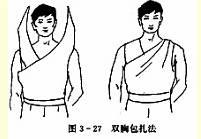 双胸三角巾包扎法