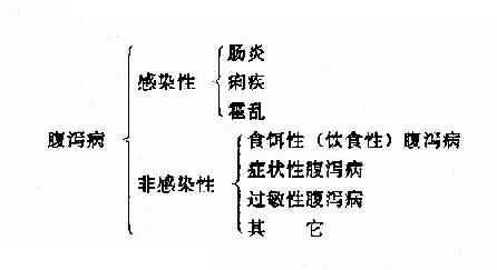 腹泻病临床分类