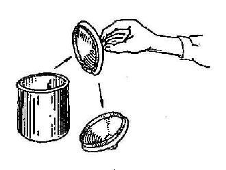 无菌容器的使用法