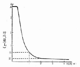用力呼气(FEV)曲线图