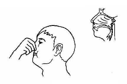捏鼻鼓气法