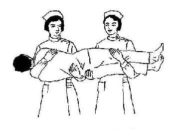 二人搬运病人