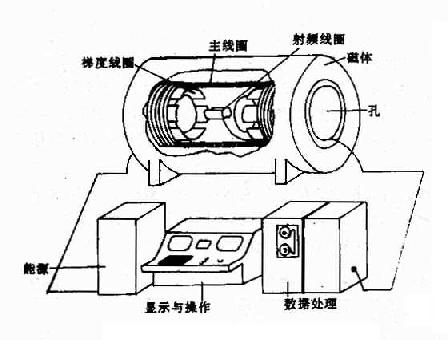 MRI设备基本结构示意图