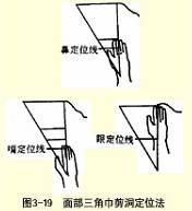 面部三角巾剪洞法