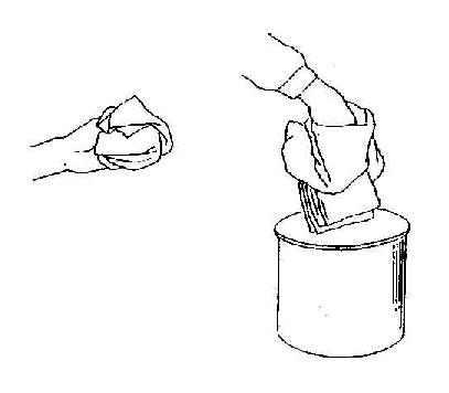 无菌包的打开法