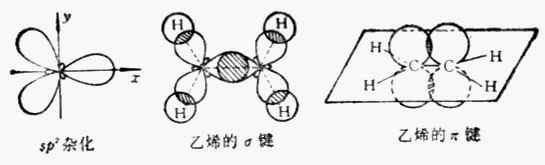 sp杂化轨道及乙烯的o键和π键
