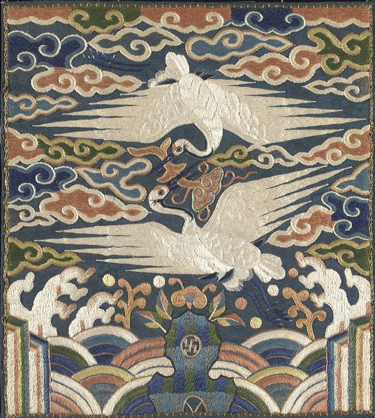 File:Badge (Hyungbae) of the Upper Civil Rank with Two Cranes LACMA M.2000.15.198.jpg