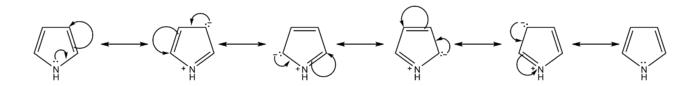 吡咯的共振式