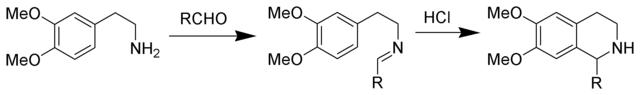 Pictet-Spengler反应制取四氢异喹啉