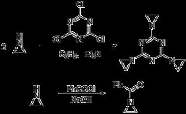 吖丙啶的取代反应