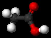 短链脂肪酸醋酸的分子结构