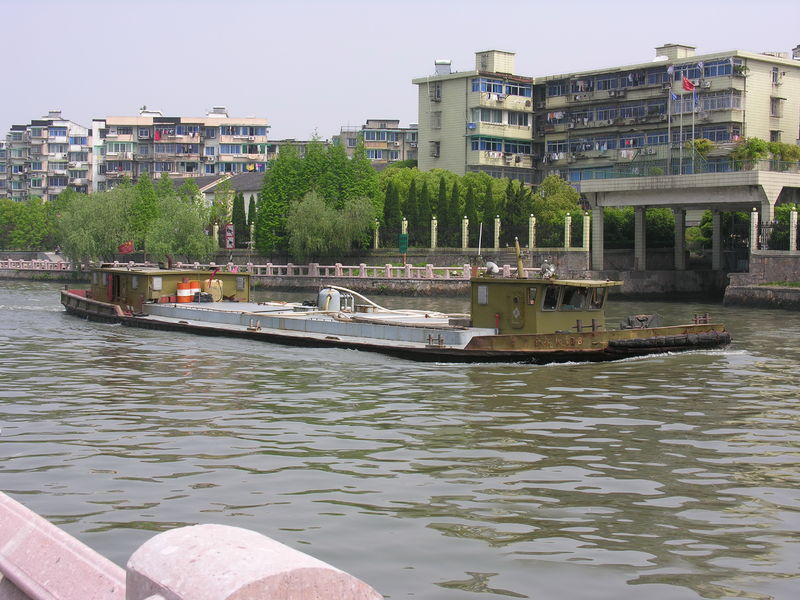 File:A boat on Grand Canal of China.JPG